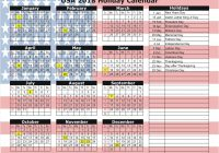 Calendar For Year 2019 United States With 2018 Holiday
