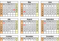 Canada Calendar 18 – free printable Excel templates – 2019 Printable Year Calendar With Holidays