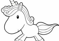 Cartoon Unicorn Coloring Page coloring page  – unicorn coloring book