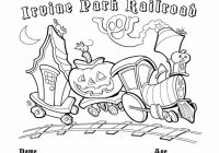 Children's Coloring Page – Irvine Park Railroad – Christmas Coloring Pages For Fourth Grade