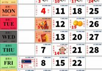 Chinese Calendar 2019 Year Of The With Malaysia Source Mohd