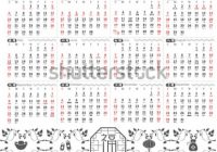 Chinese Calendar Planner Template 17 Year Stock Vector (Royalty ..