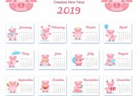 Chinese new year 20 calendar Vector   Free Download – Year 2019 Calendar