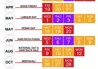 Chinese New Year 2019 Calendar Taiwan With Public School Holidays Singapore 2018 18 Long Weekends