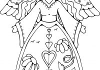 Christmas Angel Coloring Pages With Angels Free