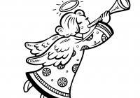 Christmas Angel Coloring Pages With Pin By KidsCanHaveFun Com On Holiday