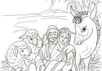 Christmas Animals Coloring Pages Printable With Nativity Scene Holy Family And Page Free