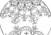 Christmas Ball Printable Coloring Pages With Balls Black And White Elegant
