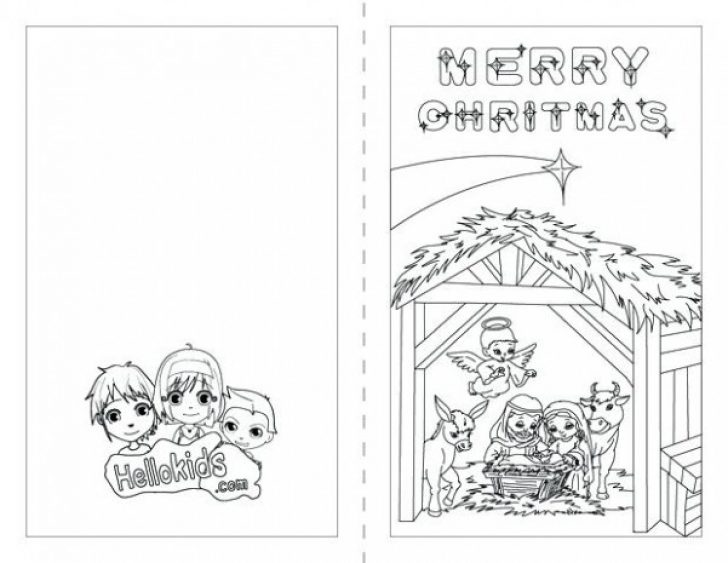 Permalink to Christmas Card Coloring Pages Printable Picture