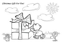 Christmas Card Coloring Pages Printable With Cards Gift Free Disney For 0