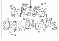 Christmas Card Coloring Pages Printable With Merry Page Zhuxing