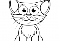 Christmas Cat Coloring Pages With Page Free Printable