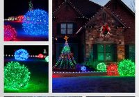 Christmas Colored Flood Lights With How To Make Light Balls Our Favorite DIY Ideas