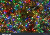 Christmas Colored Lights With Close Tree Multi Stock Photo Edit Now