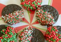 Christmas Colored Nonpareils With Oreo Dipped Cookies Pams Daily Dish