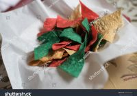 Christmas Colored Tortilla Chips With Bowl Colorful Stock Photo Edit Now 282254462