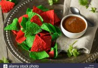 Christmas Colored Tortilla Chips With Stock Photos