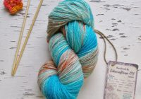 Christmas Colored Yarn With Ombre Dyed Fingering Hand Estonian Wool Bright Blue