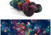 Christmas Colored Yarn With Underneath The Tree Holidays