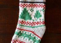Christmas Colored Yarn With Waistcoat Stockings Colorful Christine
