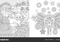 Christmas Coloring Book Christmas Colouring Pages Santa Claus Cat ..