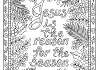 Christmas Coloring Book For Adults With 5 Christian Pages Color Digital Adult