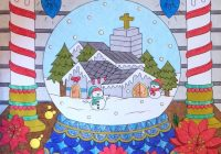 Christmas Coloring Book Jade Summer With Snow Globe From The Coloured By Laura