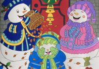 Christmas Coloring Book Jade Summer With Snowmen Family From Colouring Coloured
