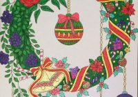 Christmas Coloring Book Jade Summer With Wreath From Coloured By Laura N