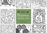 Christmas Coloring Book Pages Printable With Free Adult U Create