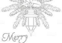 Christmas Coloring Book Vector With Merry Page Stock Art More Images Of