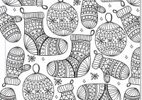 Christmas Coloring Borders Pages With Really Detailed Crafts And Arts