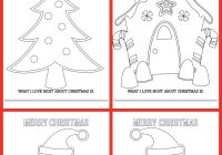 Christmas Coloring Cards Free With FREE Sheets Lil Luna