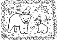 Christmas Coloring Cards Printable Free With Pictures To Print And Color Bestpicture1 Org