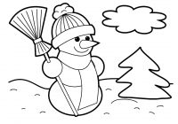 Christmas Coloring Crafts With Snowflake Page Printable Pages