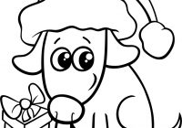Christmas Coloring Dog With Cute On Book Royalty Free Vector