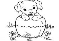 Christmas Coloring Dog With Survival Pictures Of Cats And Dogs To Color Ca 2264 Unknown