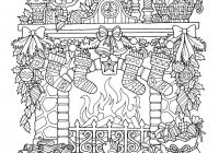 Christmas Coloring Drawings With 12 Free Pages
