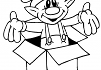 Christmas Coloring Elf Pages With