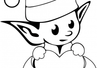 Christmas Coloring Elf Pages With Elves Free