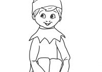 Christmas Coloring Elf Pages With On Shelf Page Free Printable