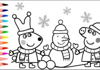 Christmas Coloring Games With Peppa Pig Pages Book YouTube