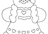 Christmas Coloring Gingerbread Man With Printable Girl All