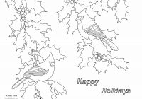 Christmas Coloring Greeting Cards With Crista Forest S Animals Art Holiday Page For
