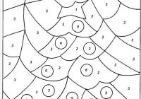 Christmas Coloring Kindergarten With Color By Number Worksheets For Download