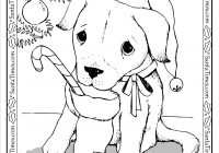 Christmas Coloring Masks With Santa Puppy Page