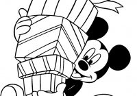 Christmas Coloring Mickey Mouse With Disney Pages Painting Pinterest