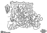 Christmas Coloring Mickey Mouse With Page All Family Of Disney