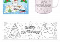 Christmas Coloring Mugs With Henbrandt Time Colouring Colour Your Own Arts