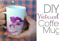 Christmas Coloring Mugs With Watercolor Coffee Easy DIY Gifts YouTube